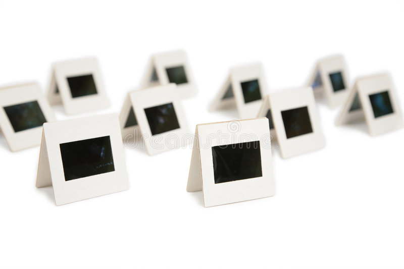 Lots pairs of slides. stock photography