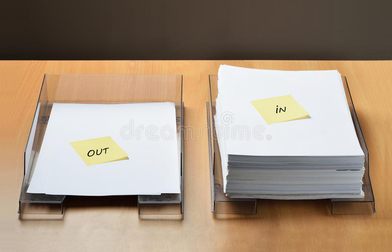 Lots of paperwork ahead royalty free stock photography
