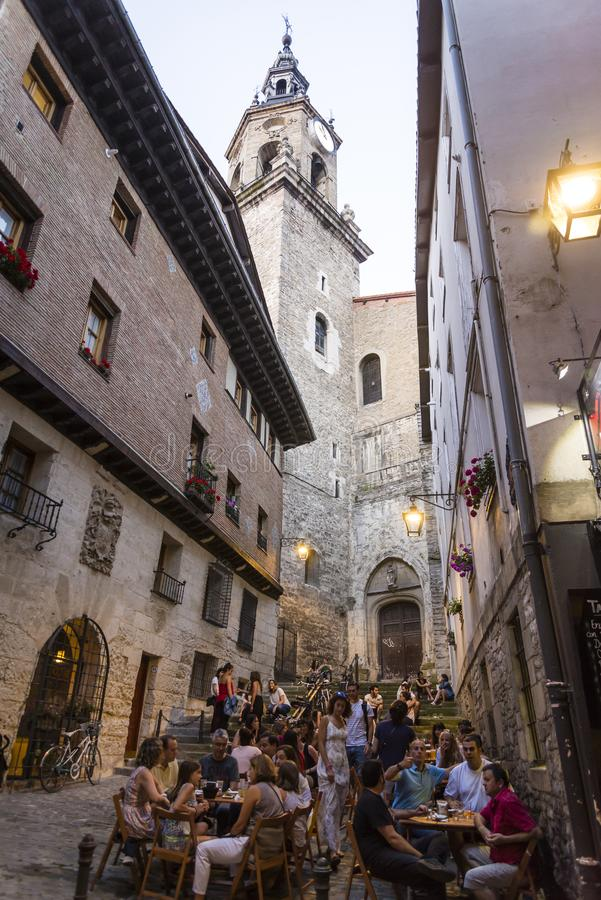 Lots of people, Vitoria-Gasteiz, Basque Country, Spain stock images