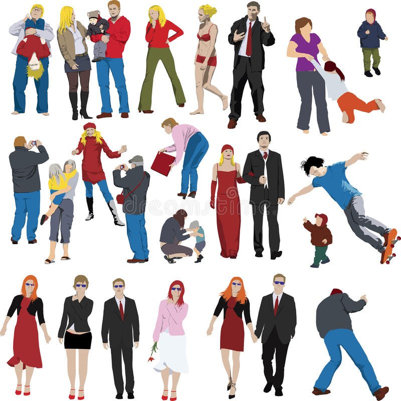 Lots of people vector illustration