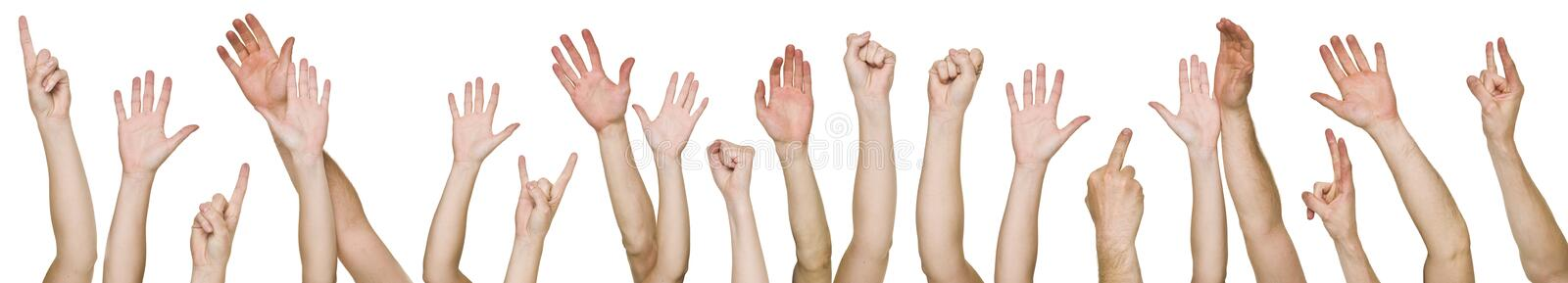 Download Lots of raised hands stock photo. Image of multi, ethnic - 14694804
