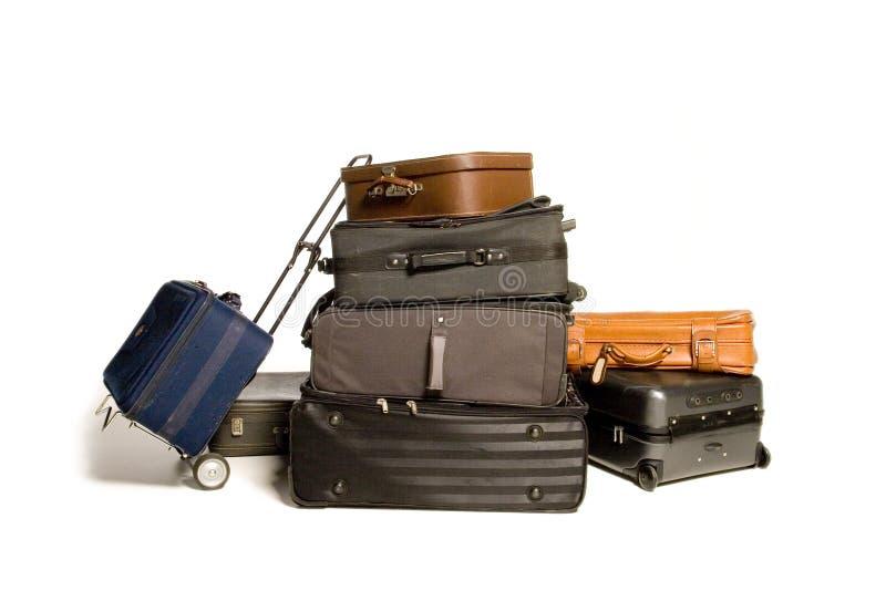 Lots reisende Koffer lizenzfreies stockbild