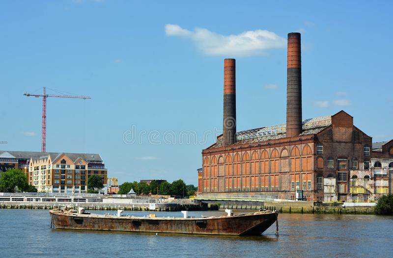 Lots Road Power Station. Redevelopment. Chelsea, London. UK. Lots Road Power Station is a disused coal and later oil-fired and later gas-fired power station on stock photo