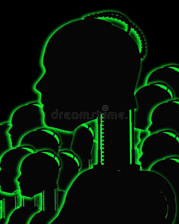 Download Lots Of Robot Outline 2 stock illustration. Image of robo - 4314507