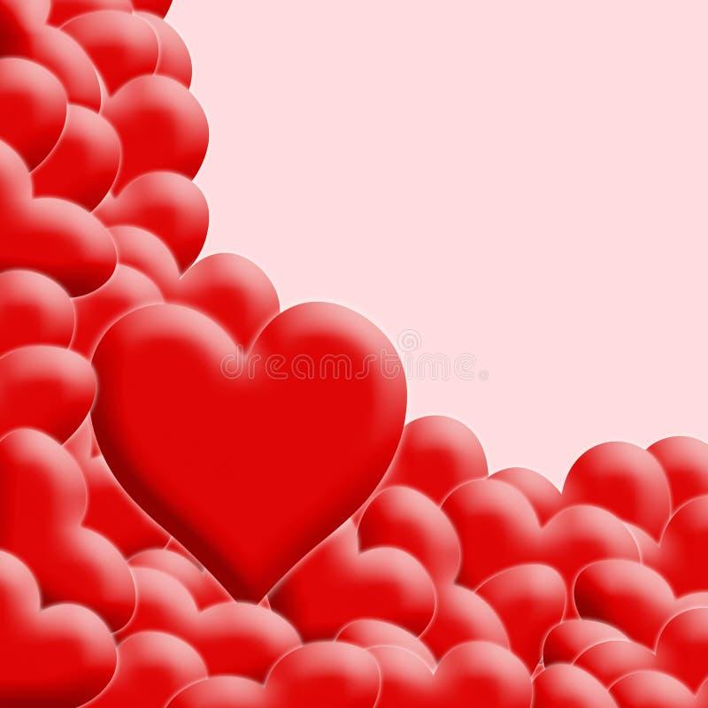 Lots rote Valentinsgrußinnere lizenzfreie abbildung