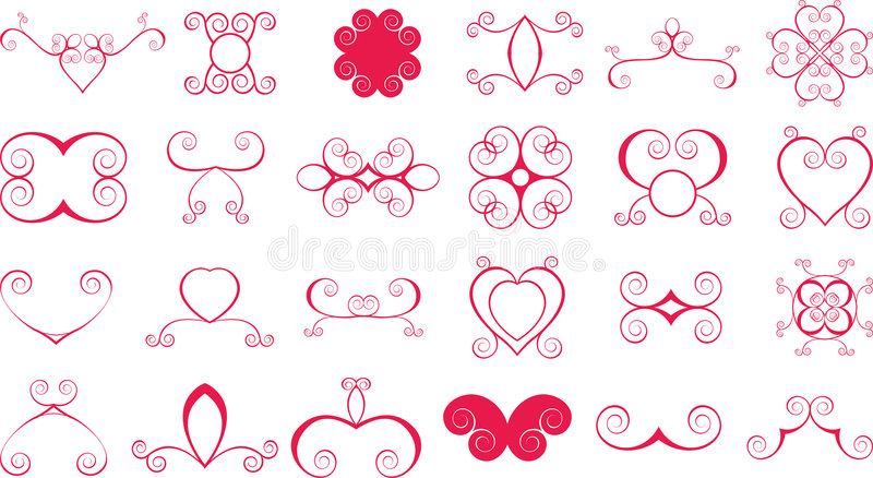 Download Lots of scroll shapes stock vector. Image of detailed - 2684838