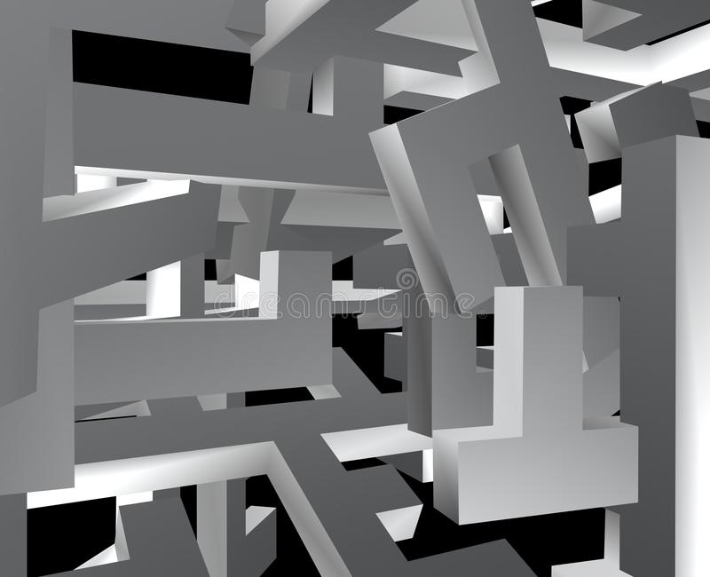 Lots of mixed blocks vector illustration