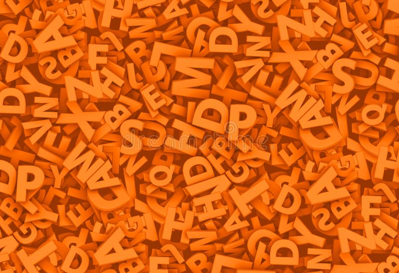 Lots of 3D letters royalty free illustration