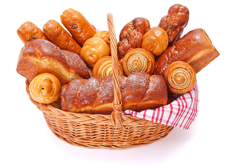 Lots of sweet bakery products stock photography