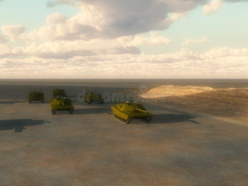 Download Lots Of Tanks stock illustration. Image of landscape, transportation - 7591362