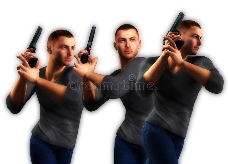 Lots Of Undercover Cops Royalty Free Stock Photos