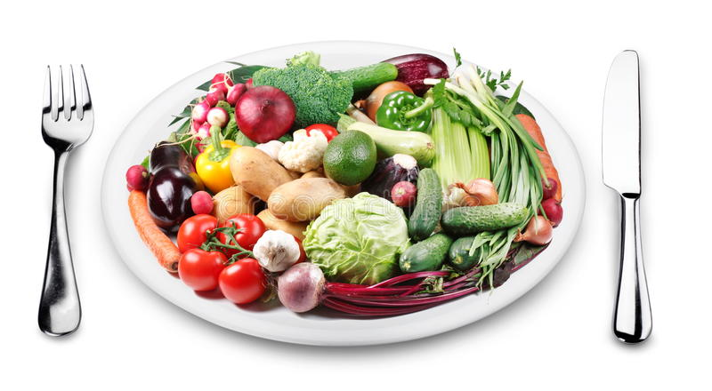 Download Lots Of Vegetables On A Plate. Stock Photo - Image of elliptical, paprika: 25959842