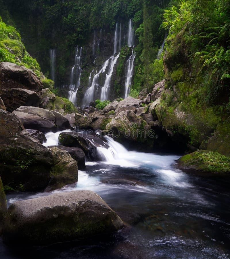 The Grand Galet Falls in Saint-Joseph on Reunion Island stock photography
