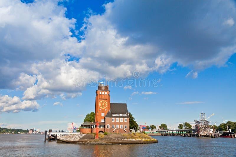 Lotsenhaus Seemannshoft (casa experimental) en el puerto de Hamburgo, GE fotos de archivo