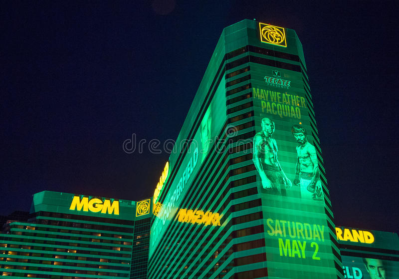 Lotta di Manny Pacquiao e di Floyd Mayweather fotografie stock libere da diritti
