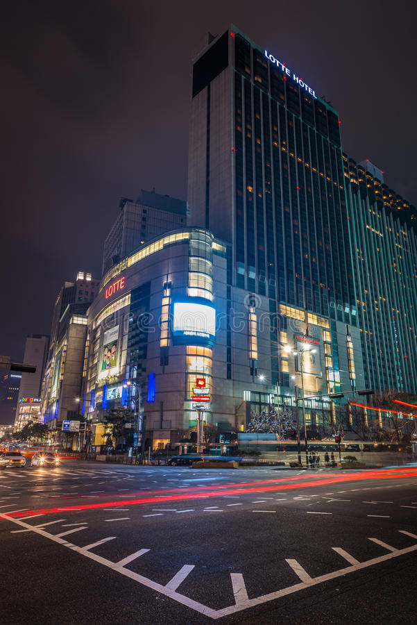 Lotte Department Store imagenes de archivo
