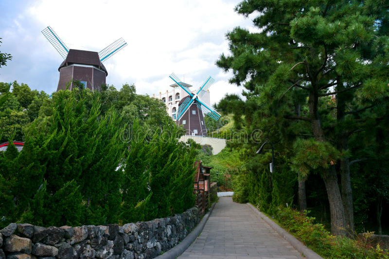 Lotte Hotel, Jeju-Insel, Korea, Vulkaninsel stockfotografie