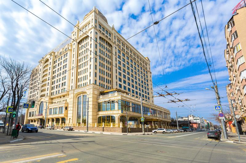 Lotte Hotel Samara i solig dag för sommar arkivfoto