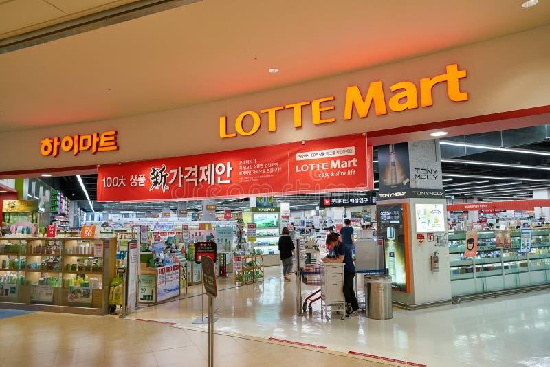 Lotte Mart stock fotografie