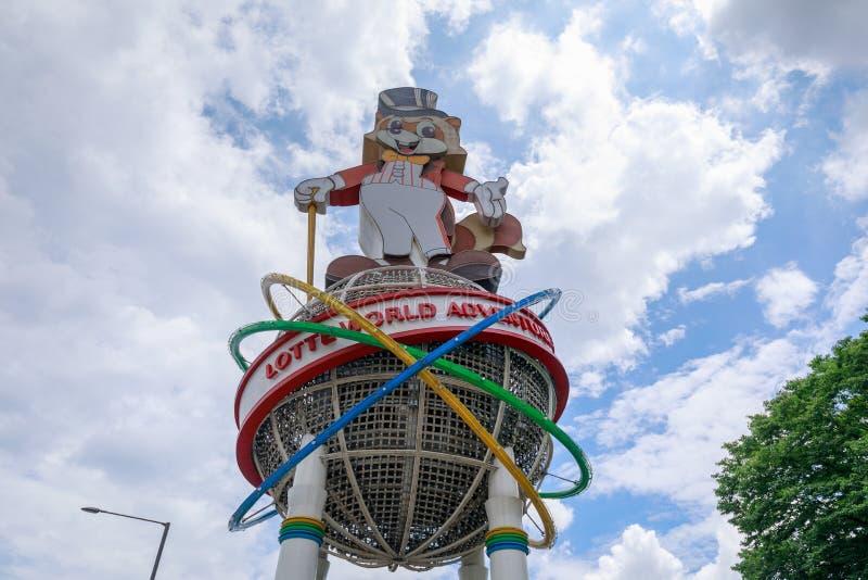 Lotte World, un parco a tema famoso di divertimento nella città di Seoul immagine stock
