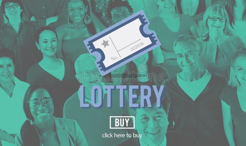 Lotterie-Möglichkeit, die Lucky Risk Game Concept spielt lizenzfreie stockfotografie