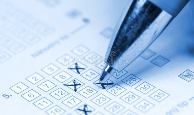 Lotterieblattnahaufnahme stockbilder