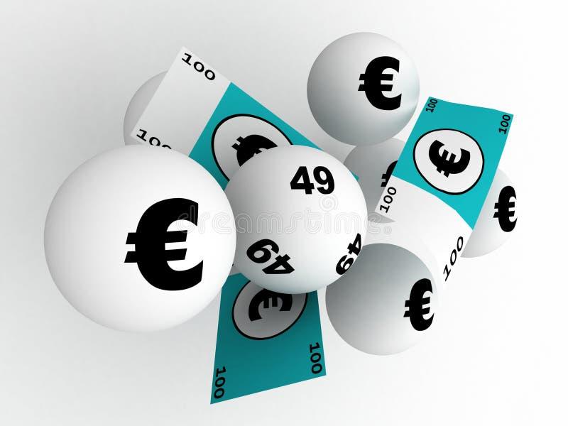 lotteriseger royaltyfri illustrationer