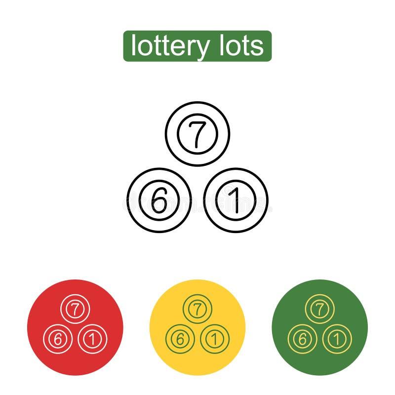Lotterit klumpa ihop sig symbolen vektor illustrationer