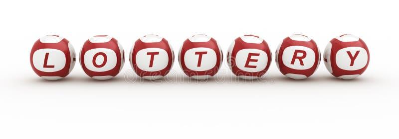 Lottery Balls In Glass Tubes Stock Illustration - Illustration of