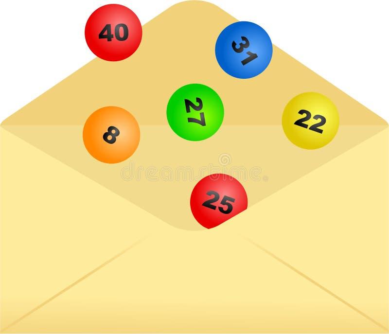 Lottery envelope royalty free illustration