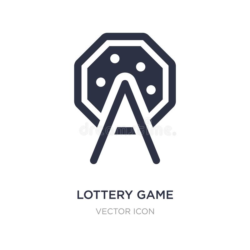 Lottery game icon on white background. Simple element illustration from Entertainment and arcade concept. Lottery game sign icon symbol design royalty free illustration