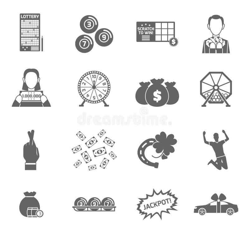 Lottery Icon Set stock illustration