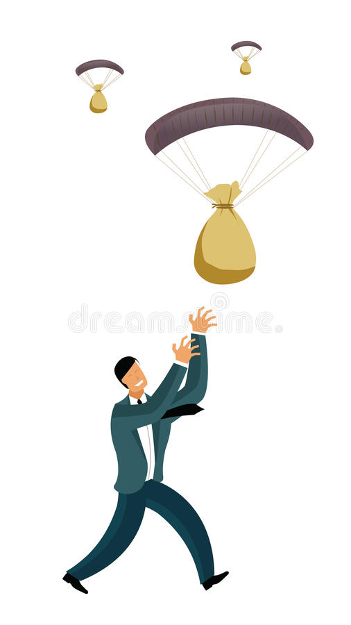 Lottery jackpot profit vector illustration