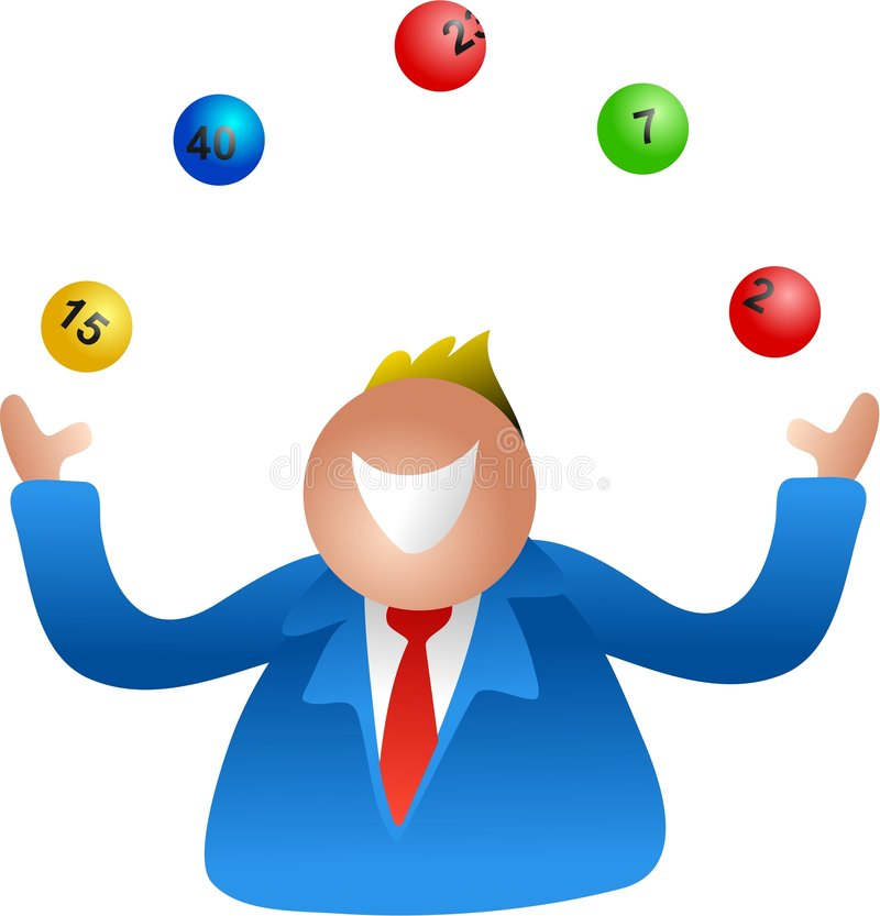 Lottery juggle royalty free illustration