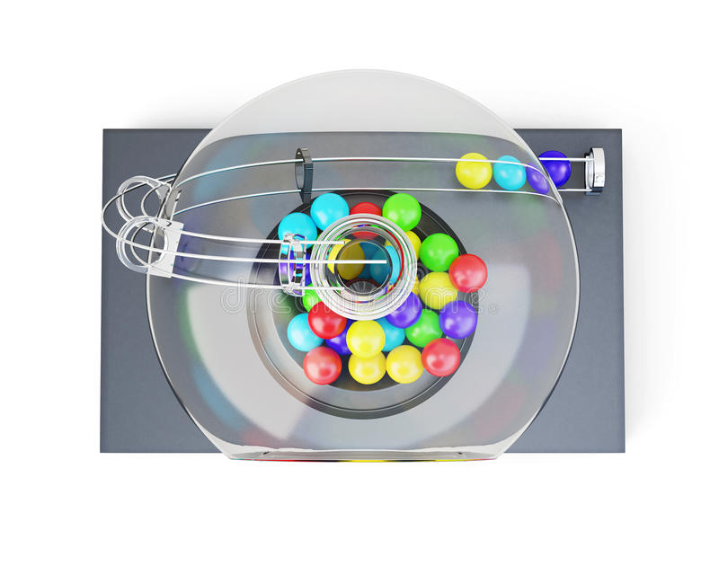 Lottery machine top view isolated on white background. 3d render vector illustration