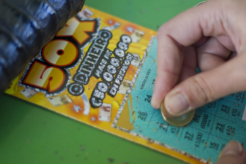 Lottery Scratchcard royalty free stock images