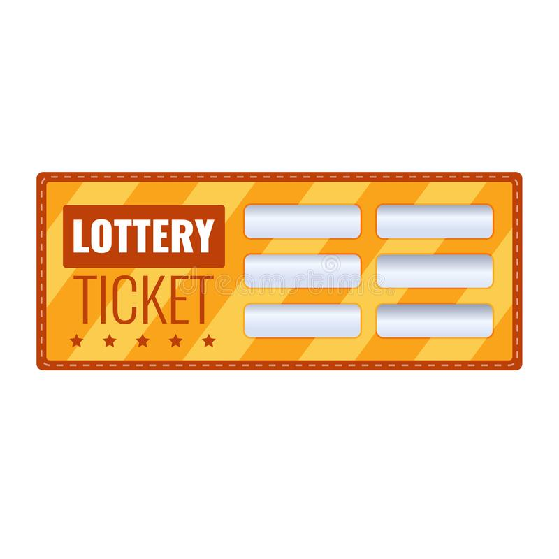 Free Lottery Ticket For Drawing Money And Prizes. Lottery Luck, Fortune. Stock Photo - 109413290