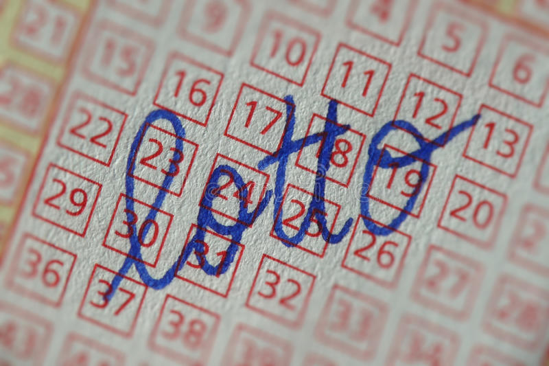 Download Lottery Ticket With Writing Stock Image - Image: 13292233