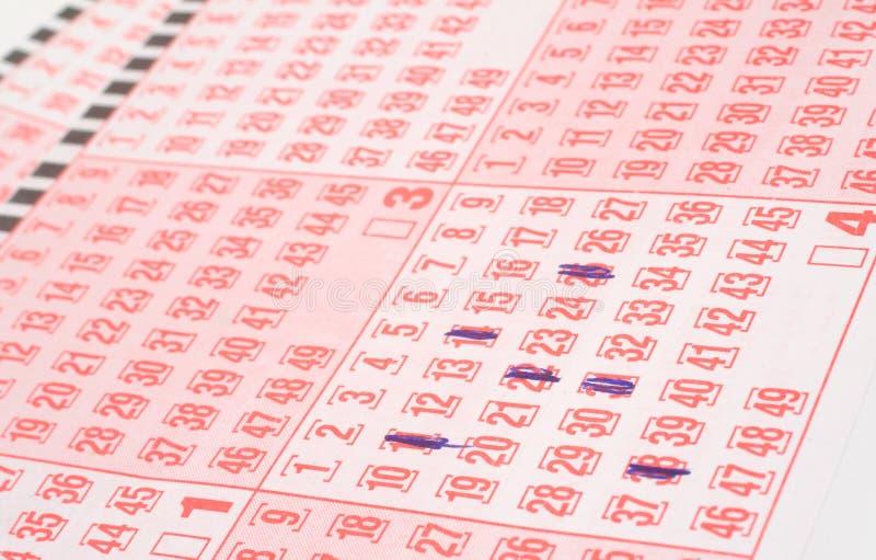 Lottery tickets royalty free stock photos