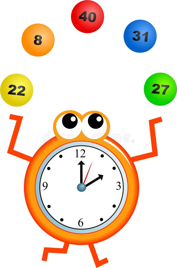 Lottery time vector illustration
