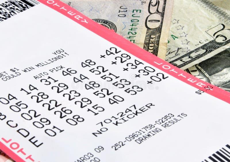 Lottery winnings royalty free stock photo