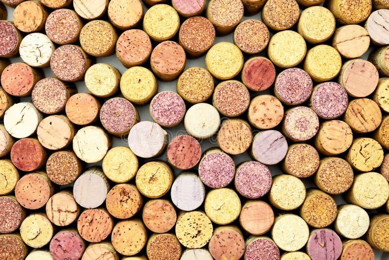 Lotti dei sugheri del vino fotografia stock