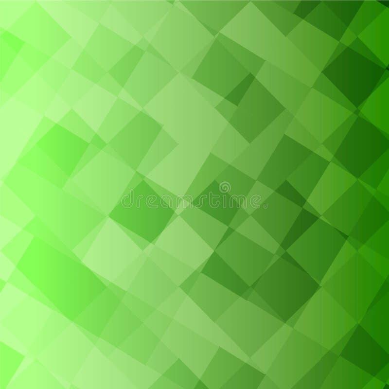 Lotti del fondo verde di vettore dei quadrati immagine stock