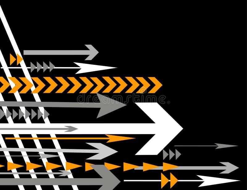 Lotti del illustra di vettore delle frecce illustrazione di stock