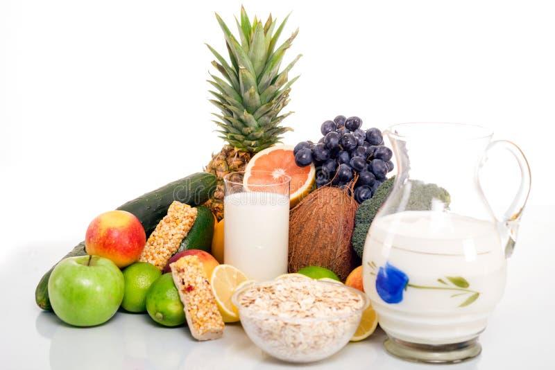 Lotti della frutta e delle verdure fresche fotografia stock