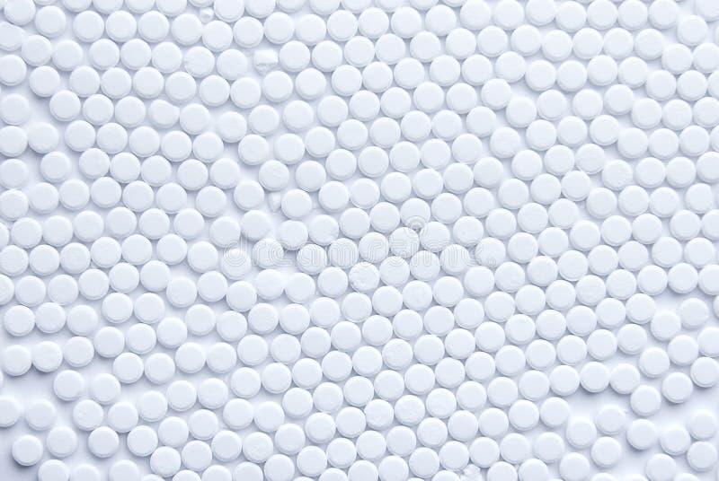 Lotti della vista superiore delle pillole fotografie stock