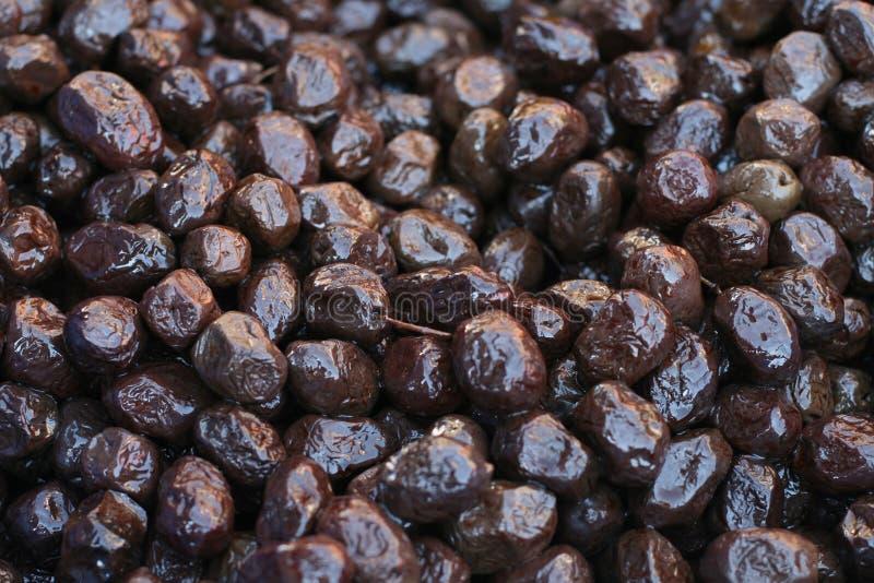 Lotti delle olive nere fotografie stock