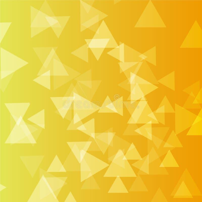 Lotti dorati del triangolo del fondo di vettore di varietà immagini stock libere da diritti
