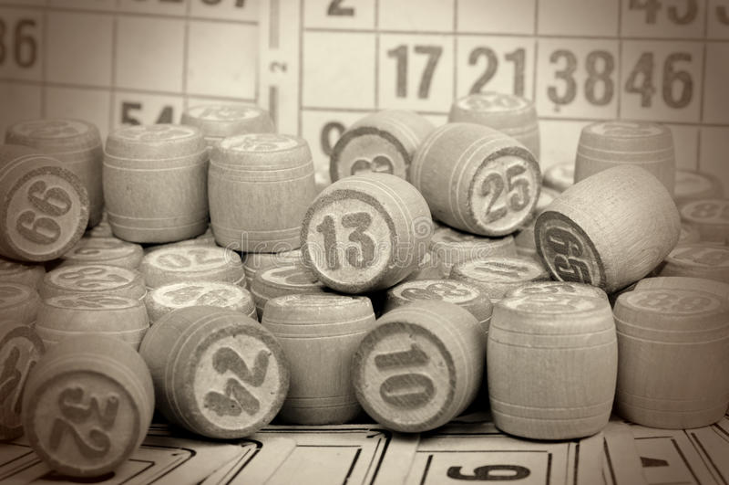 lotto настольной игры стоковая фотография rf