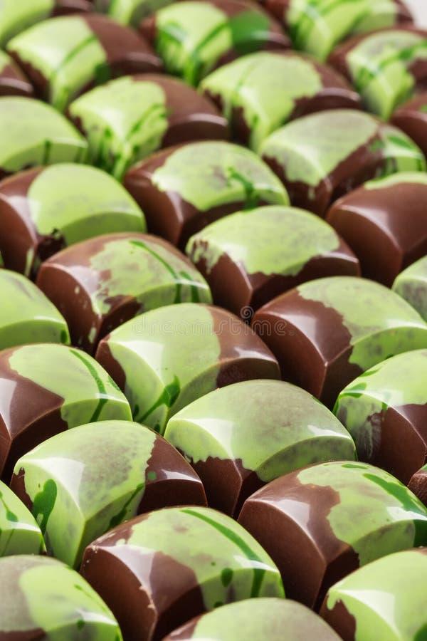 Lotto dei bonbon del cioccolato immagine stock